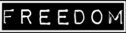 Freedom Skateshop Logo Black White